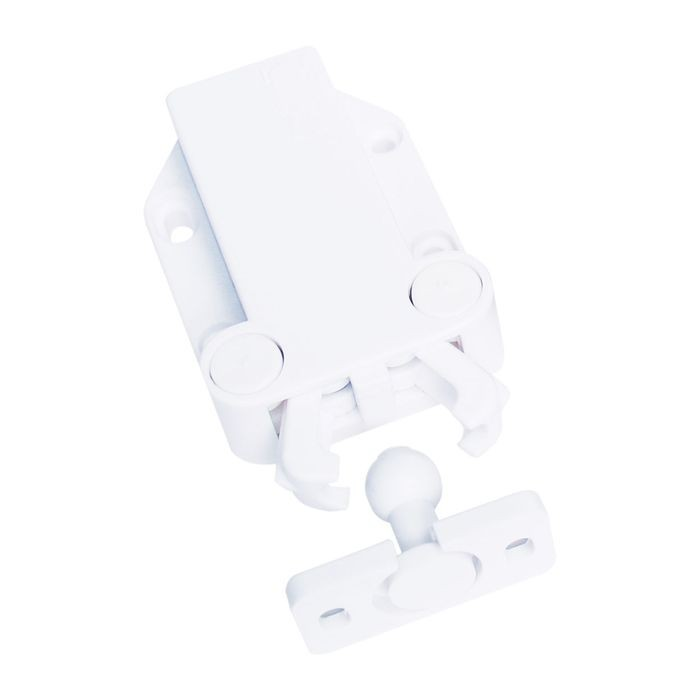 PLASTIC,WHITE SUGATSUNE #MC-37 NON-MAGNETIC PUSH LATCH