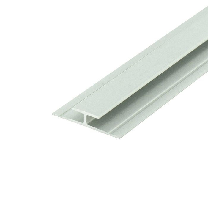 1/8in to 5/32in Clear Anodized (Satin) Finish | Aluminum Divider Moulding | 12ft Length