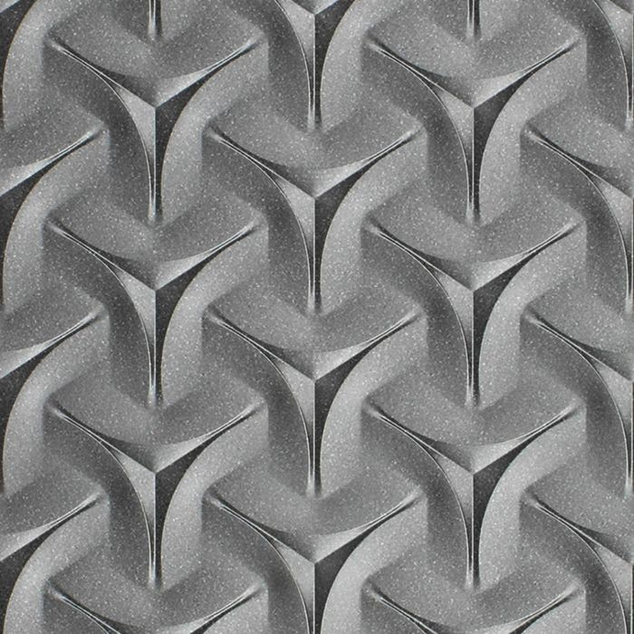 10' Wide x 4' Long Japanease Weave Pattern Argent Silver Finish Thermoplastic Flexlam Wall Panel