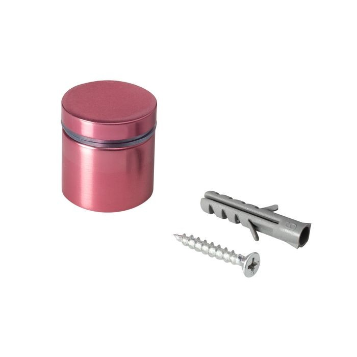 1in Dia x 3/4in Barrel Length | Rosy Pink Aluminum | Eco Series Easy Fasten Standoff