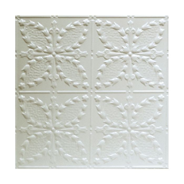 Tin Plated Stamped Steel Ceiling Tile | Lay In | 2ft Sq | Egg Shell Finish