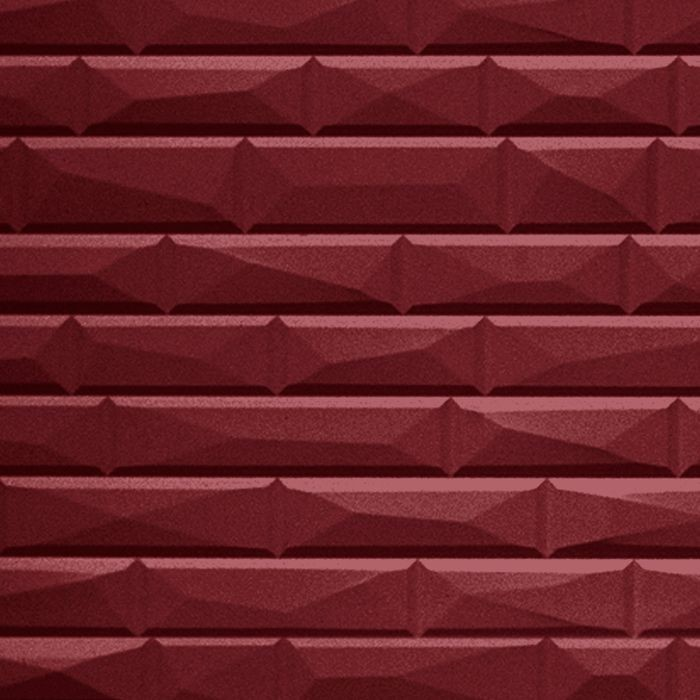 10' Wide x 4' Long Vista Pattern Merlot Finish Thermoplastic FlexLam Wall Panel