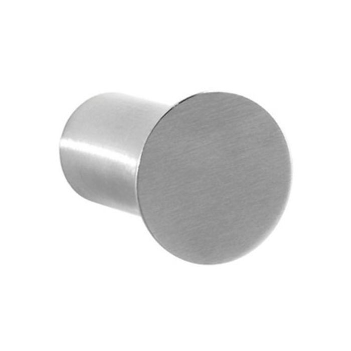 "1-3/16"" Overall Height Stainless Steel Satin Finish Round Shaft Coat Hook"