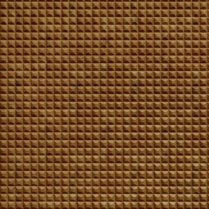 10' Wide x 4' Long Chocolate Square Pattern Muted Gold Finish Thermoplastic Flexlam Wall Panel