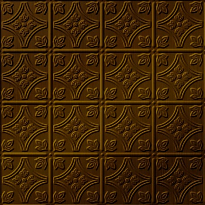 10' Wide x 4' Long Savannah Pattern Oil Rubbed Bronze Finish Thermoplastic Flexlam Wall Panel