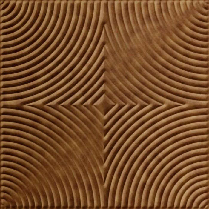 FlexLam 3D Wall Panel | 4ft W x 10ft H | Curvation Pattern | Antique Bronze Finish