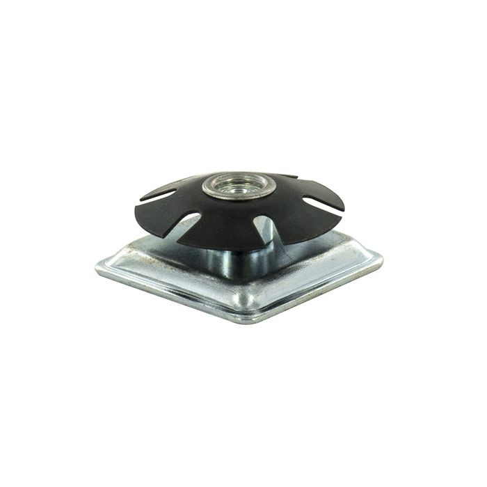 1-1/2in Square | 1/4-20 Thread | Heat Treated Carbon Steel | Square Single Star Metal Insert