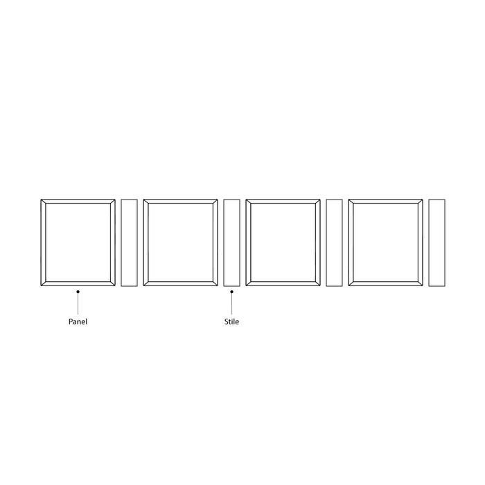 "Red Oak Raised Panel Pack Includes 4 Panels 23"" High x 18"" Wide And 4 Stiles 23"" High x 3"" Wide"