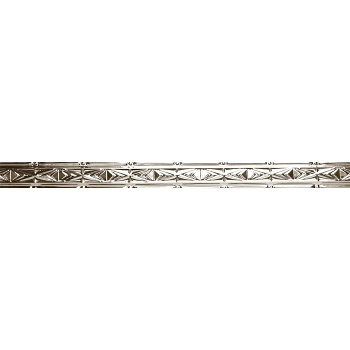 Tin Plated Stamped Steel Cornice | 3in H x 3-1/2in W x 3in Proj | Copper Finish | 4ft Long