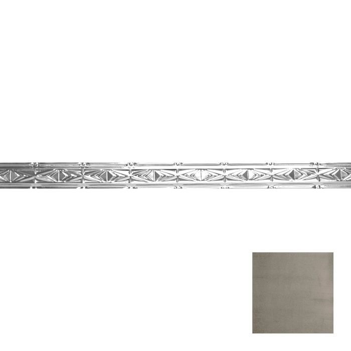 Tin Plated Stamped Steel Cornice | 3-1/2in H x 3in Proj | Copper Verde Finish | 4ft Long