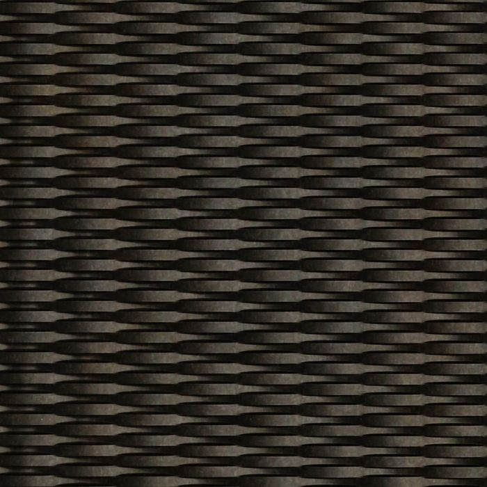 10' Wide x 4' Long Interlink Pattern Smoked Pewter Finish Thermoplastic Flexlam Wall Panel