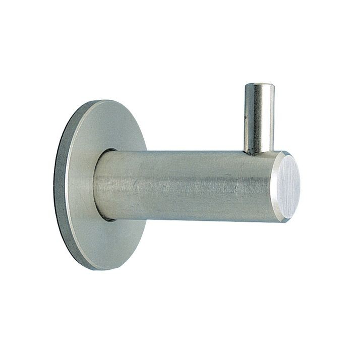 "1-11/16"" Projection Stainless Steel Satin Finish Round Shaft Coat Hook"