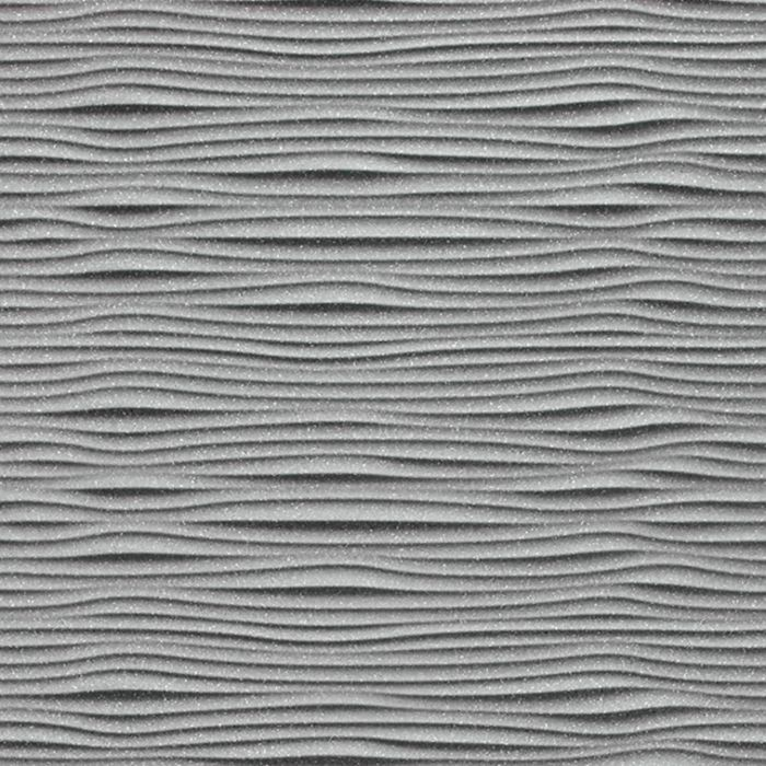 10' Wide x 4' Long Gobi Pattern Argent Silver Finish Thermoplastic Flexlam Wall Panel