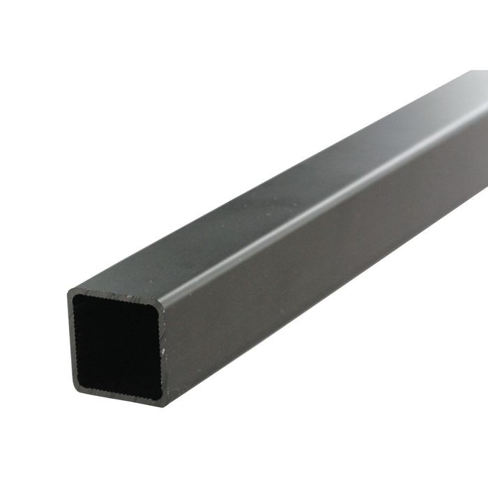 "1"" Square Black Anodized Aluminum Tubing 8' Length"