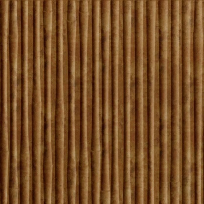10' Wide x 4' Long Bamboo Pattern Muted Gold Finish Thermoplastic Flexlam Wall Panel