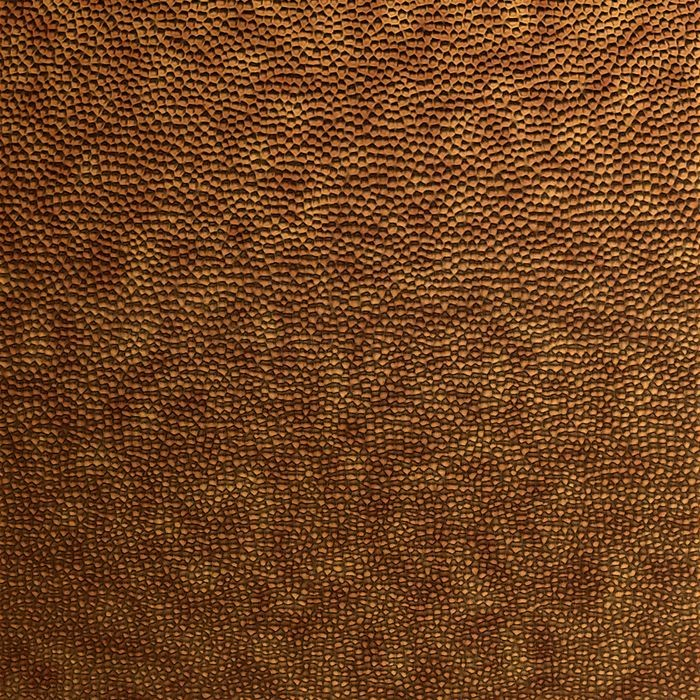 10' Wide x 4' Long Hammered Pattern Antique Bronze Finish Thermoplastic FlexLam Wall Panel