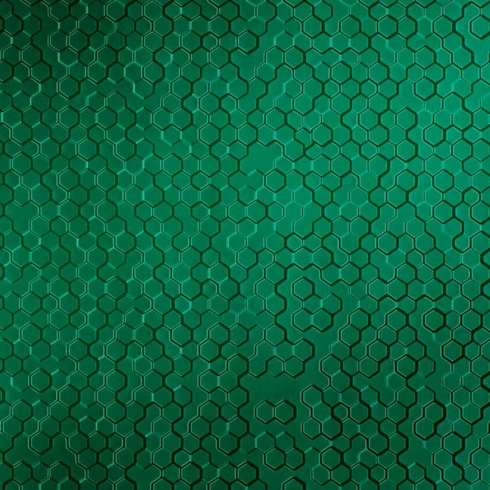 10' Wide x 4' Long Beehive Pattern Mirror Green Finish Thermoplastic FlexLam Wall Panel