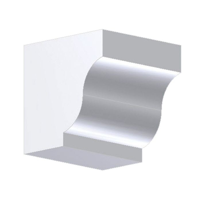 "4"" Wide x 4"" High Primed White Polyurethane Dentil Block"