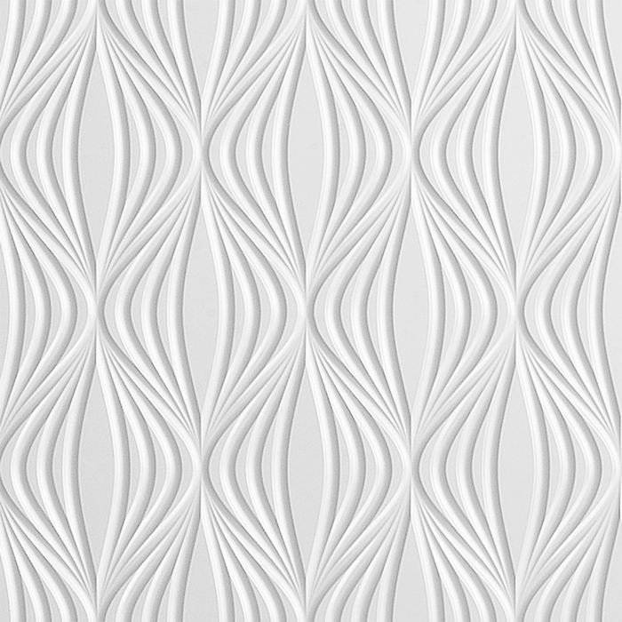 10' Wide x 4' Long Shallot Pattern White Finish Thermoplastic Flexlam Wall Panel