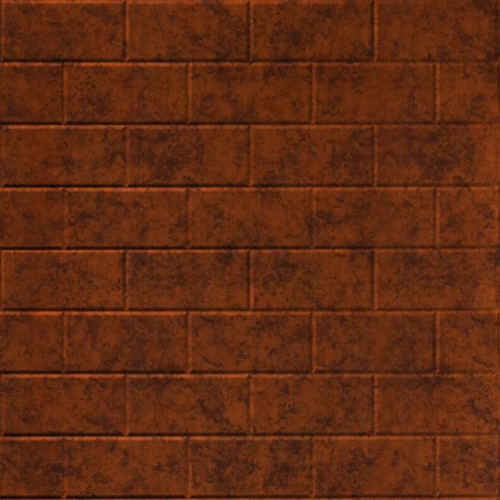 FlexLam 3D Wall Panel | 4ft W x 10ft H | Subway Tile Pattern | Moonstone Copper Finish