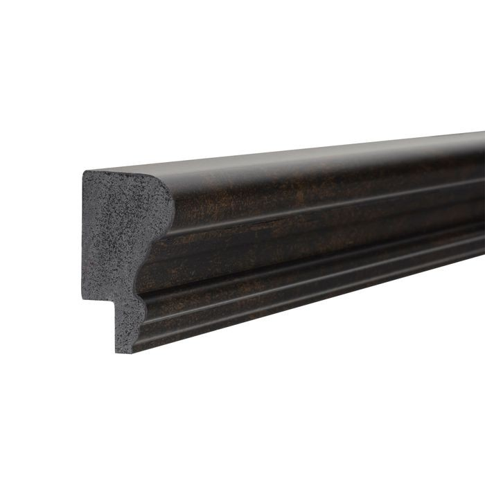 1-3/4in H x 1in Proj | Oil Rubbed Bronze High Impact Polystyrene | Cap and Backband Moulding | 8ft Long