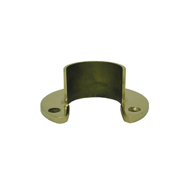 "1-1/2"" Diameter x 1-1/4"" High Polished Brass Finish Flange"