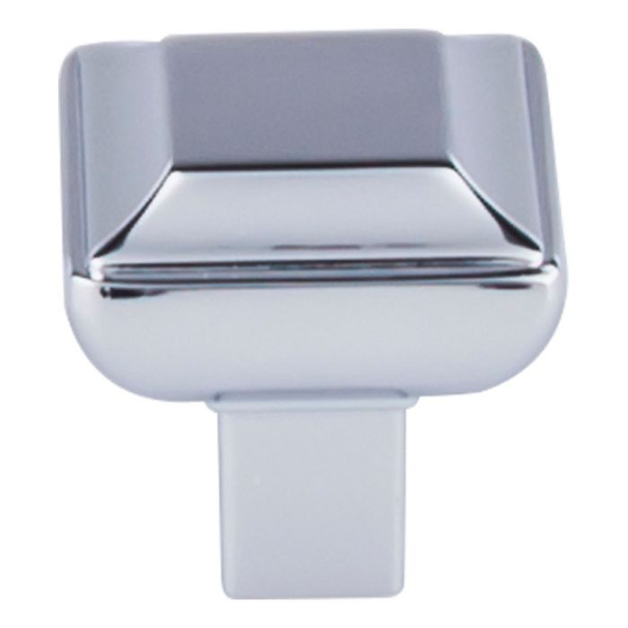 "Podium Knob 1 1/8"" Square Polished Chrome"