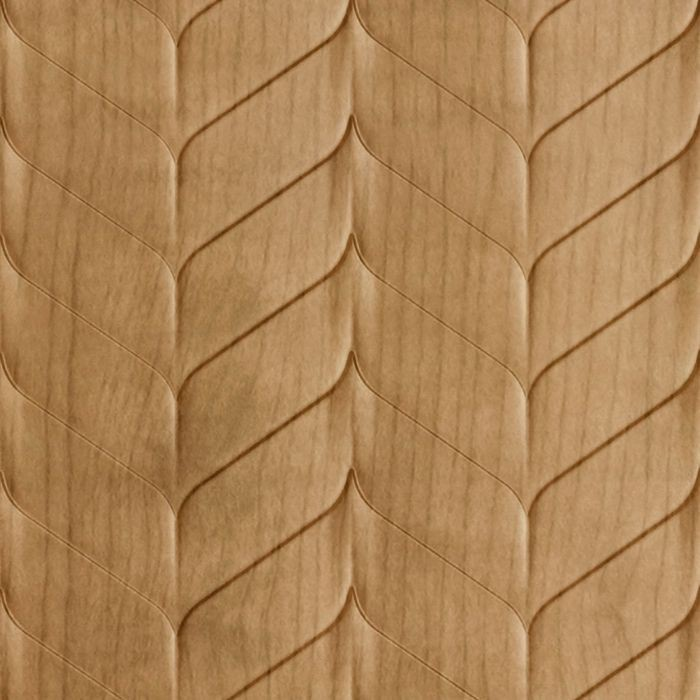 10' Wide x 4' Long Ariel Pattern Oregon Ash Finish Thermoplastic Flexlam Wall Panel
