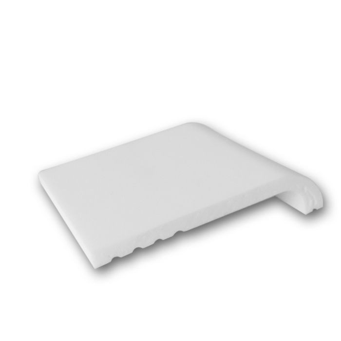 Orac Decor | High Impact Polystyrene Baseboard Moulding | Primed White | 4in Sample Piece
