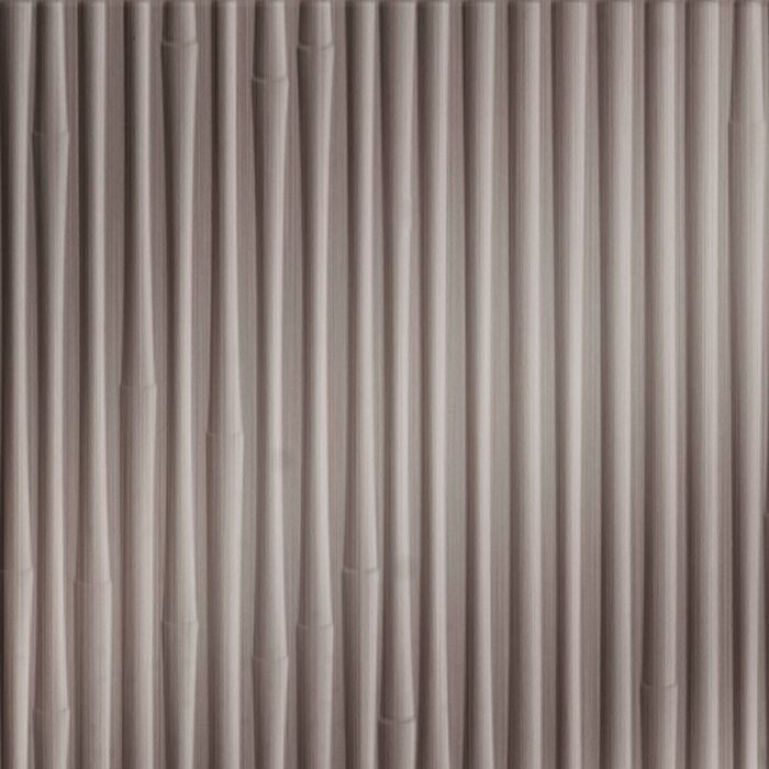 10' Wide x 4' Long Bamboo Pattern Brushed Nickel Finish Thermoplastic Flexlam Wall Panel