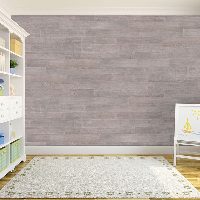 5-1/8in W x 3/16in Thick x 46-1/2in Long | Driftwood Grey Finish Pine Planks | Wood Wallscapes Wallcovering