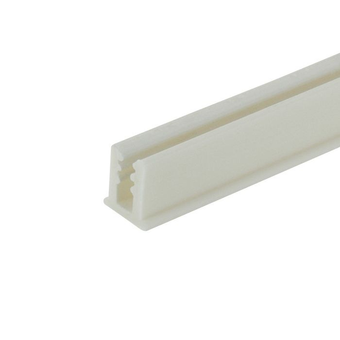 1/8in | White Rigid PVC/Dual Durometer U Channel Moulding With Adhesive | 8ft Length