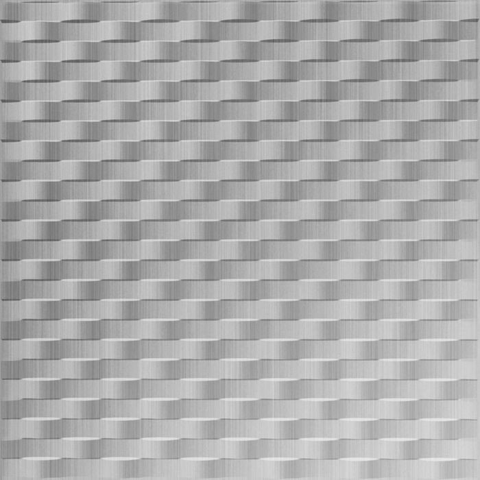 10' Wide x 4' Long Weave Pattern Brushed Aluminum Finish Thermoplastic Flexlam Wall Panel