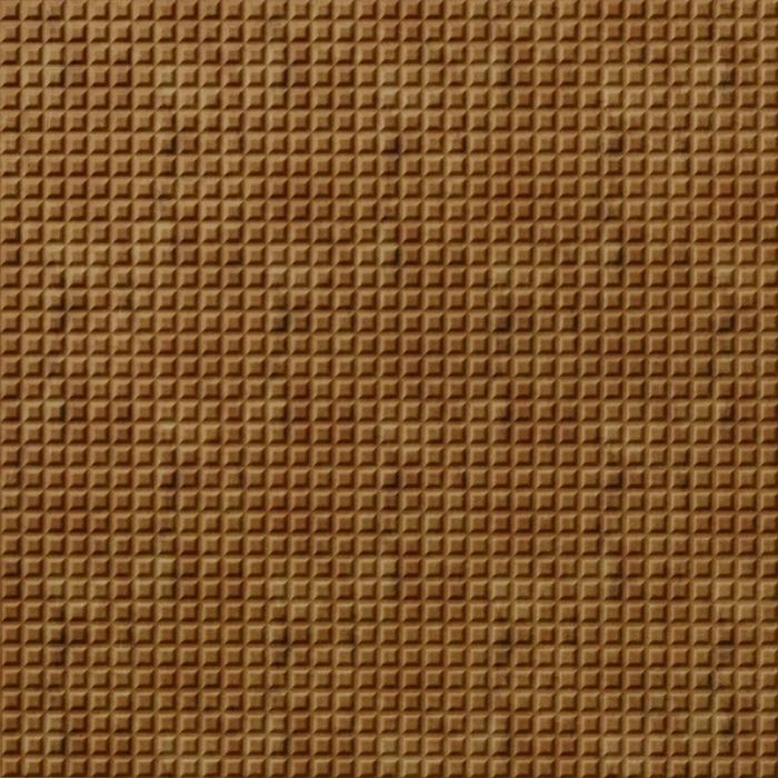 10' Wide x 4' Long Square 5 Pattern Muted Gold Finish Thermoplastic Flexlam Wall Panel
