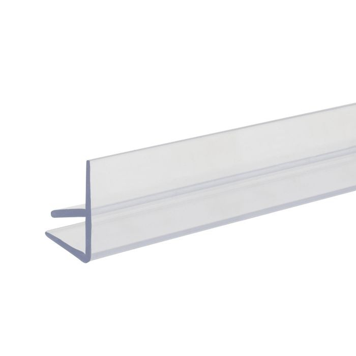 1/4in x 1/4in H | Clear Butyrate Shelf Guard Edge Retainer | 12ft Length