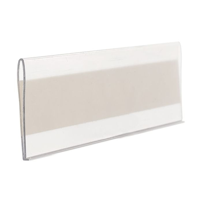 1-1/4in | Clear PVC | Ticket and Inventory Tag Moulding | 8ft Long