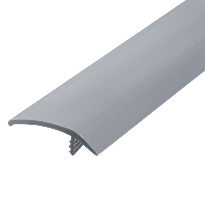 1-1/2in 363 Silver Flexible Polyethylene | OffsetBarb Tee Moulding | 250ft Coil
