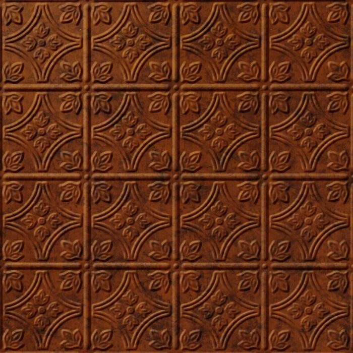 10' Wide x 4' Long Savannah Pattern Moonstone Copper Finish Thermoplastic Flexlam Wall Panel