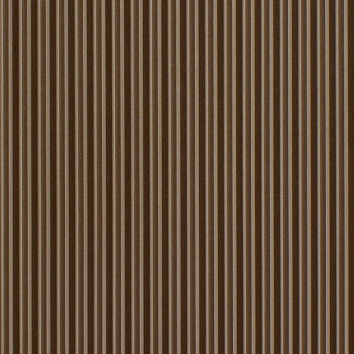 10' Wide x 4' Long Ridges Pattern Argent Bronze Finish Thermoplastic Flexlam Wall Panel