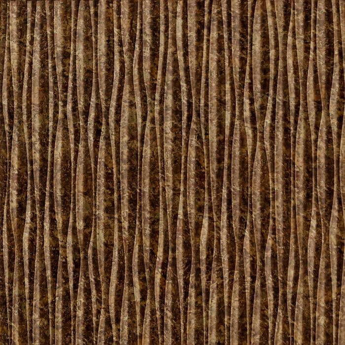 10' Wide x 4' Long Sahara Pattern Bronze Fantasy Vertical Finish Thermoplastic Flexlam Wall Panel
