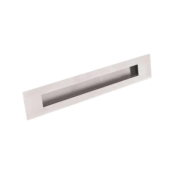 "1 15/16"" X 11 13/16"" Brushed Stainless Recessed Door Pull"