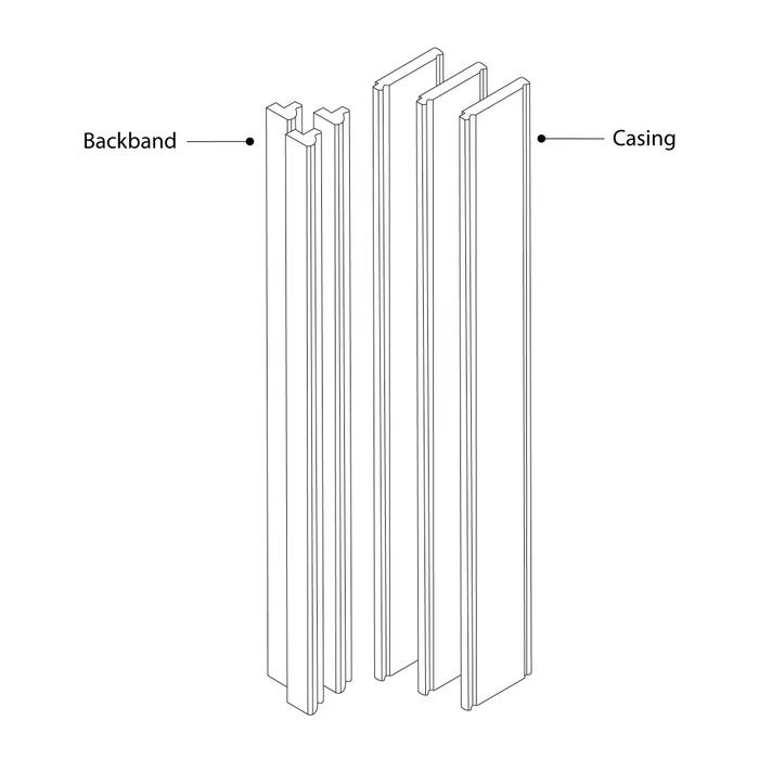 "Red Oak Casing And Backband Kit Includes 3 Pieces Of 4"" Wide x 8' Length Casing And 3 Pieces Of 8' Length Backband"