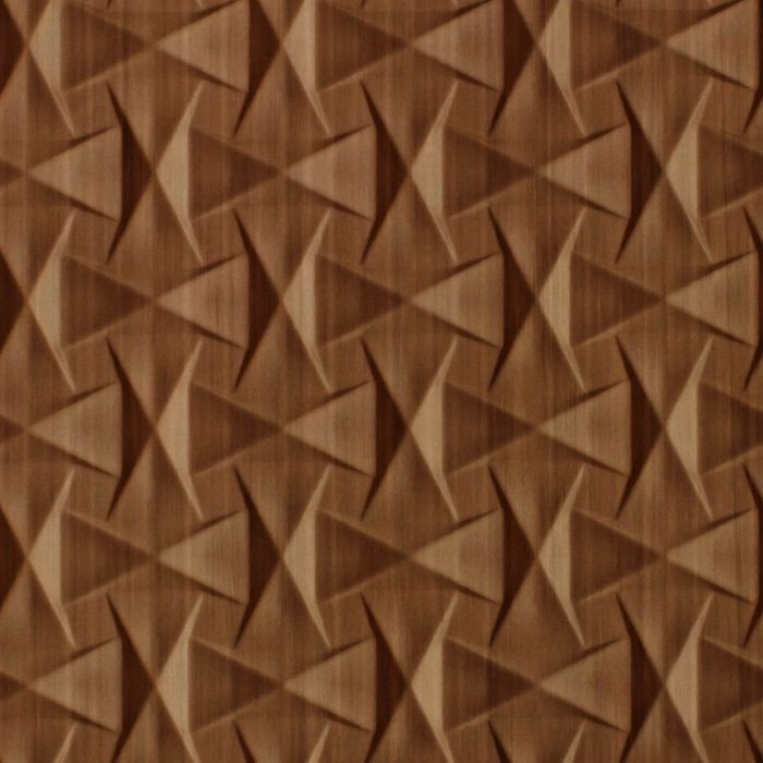 10' Wide x 4' Long Bowtie Pattern Pearwood Finish Thermoplastic FlexLam Wall Panel