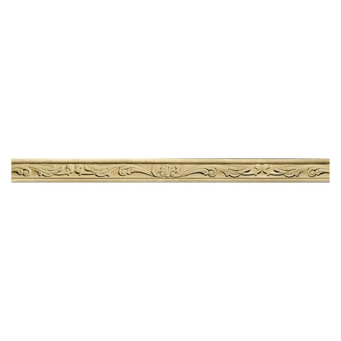 Hand Carved Wood Panel Moulding | Shell 8ft Long