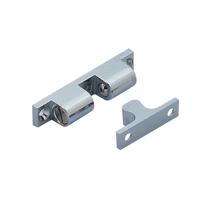 "1-43/64"" Long Polished Stainless Steel Tension Catch"