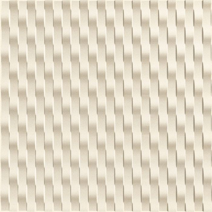 10' Wide x 4' Long Weave Pattern Winter White Vertical Finish Thermoplastic Flexlam Wall Panel