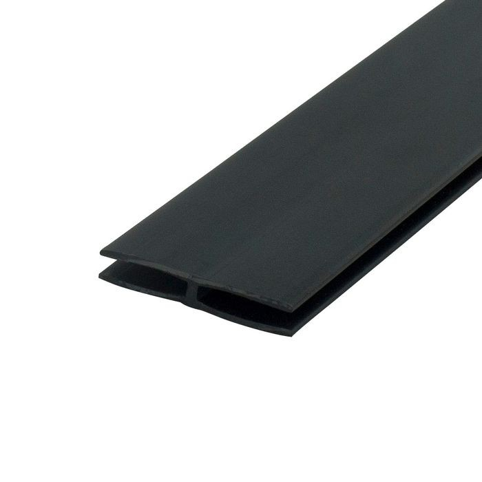 1/8in Black Styrene | Divider Moulding | 8ft Length