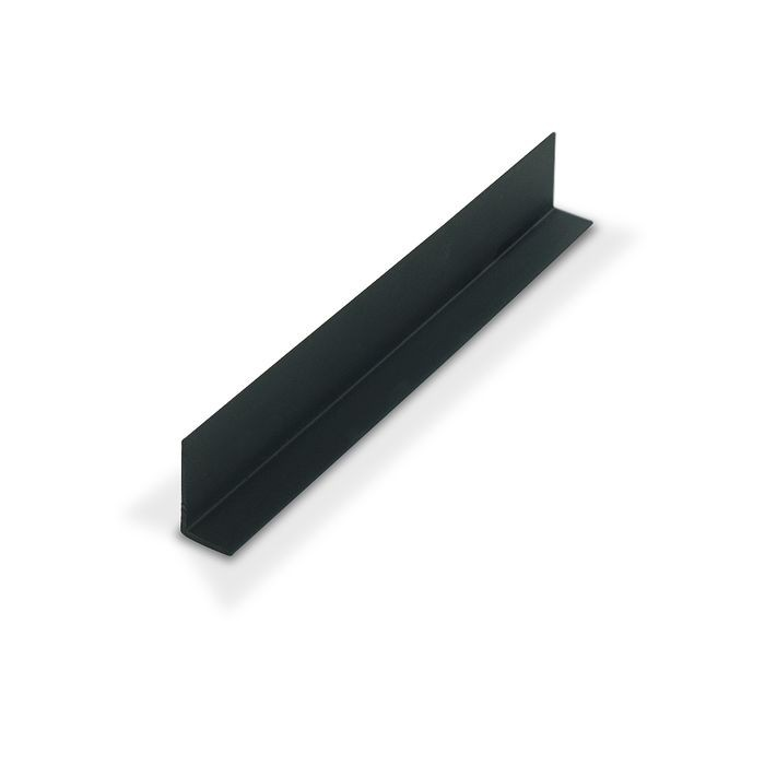 "1"" x 1/2"" x 3/64"" (.040"") Thick Black Styrene Uneven Leg 90° Angle Moulding 12' Length"