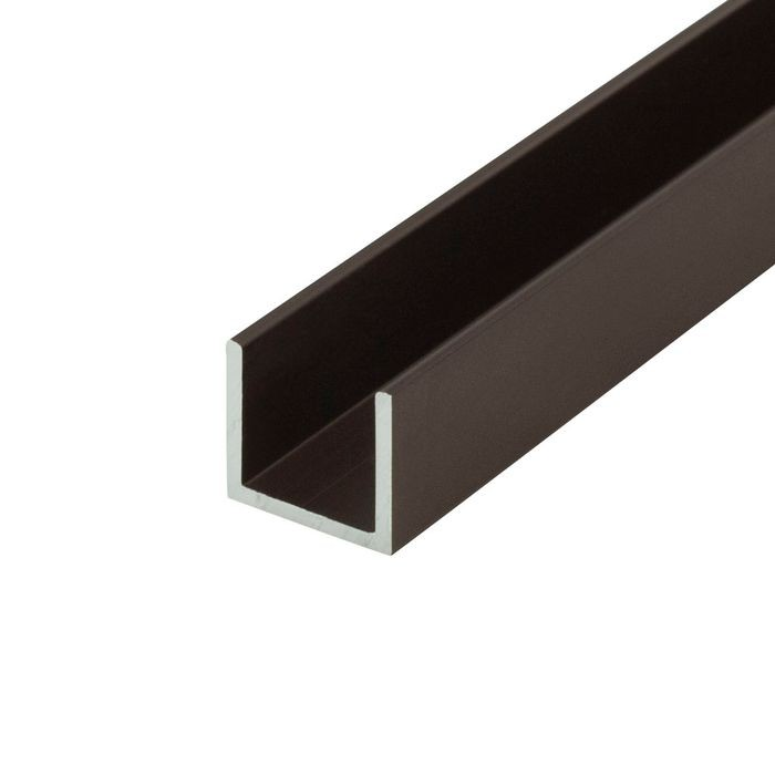 "1/2"" Oil Rubbed Bronze Finish Aluminum U Channel Moulding 12' Length"