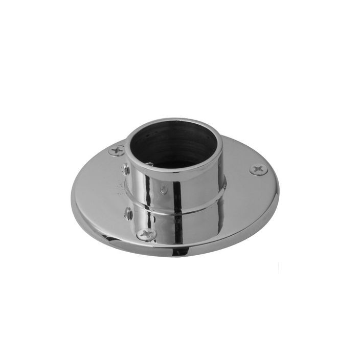 1-1/2in Dia x 1-1/2in H | Satin Stainless Steel Finish | Flange